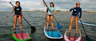paddle board chicks