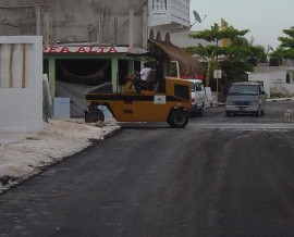 downtown paving