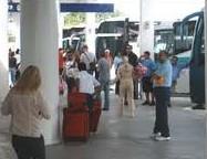 airport waiting bus