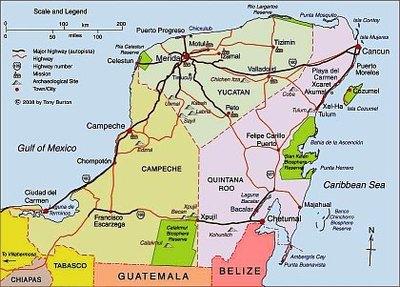 map yucatan